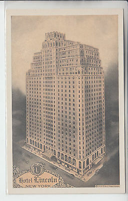 New York City NY Vintage Postcard The Hotel Lincoln Eighth Avenue