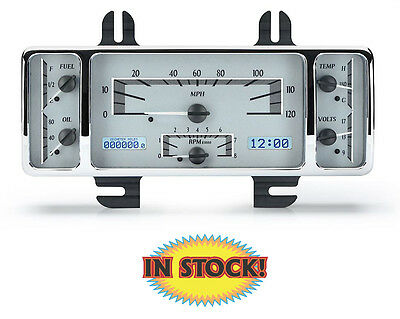 Dakota Digital 1940 Ford Car VHX Gauge Kit - Silver/White - VHX-40F-S-W