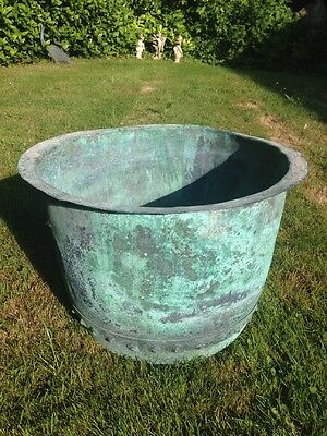 Antique Victorian Vintage Copper Planter