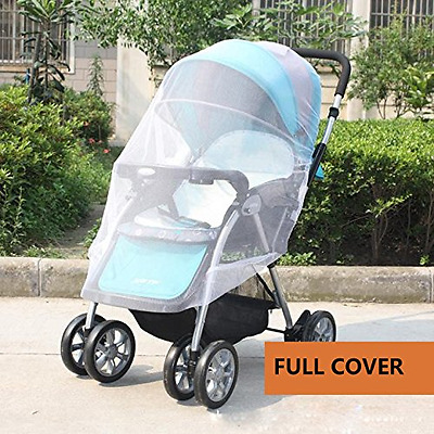 NEW 2Pcs Full Cover Baby Mosquito Net For Strollers Carriers Car Seats