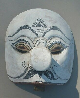 Vintage White Mask Retro Face Mask Unique Find