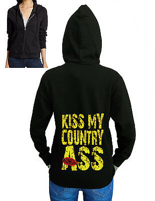 Kiss My COUNTRY ASS Hoodie Humor redneck southern country girl Hooded Top