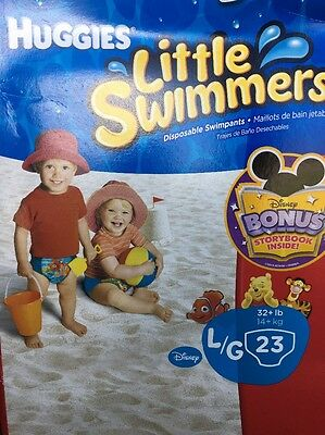 Qty 46! - HUGGIES LITTLE SWIMMERS Diapers Large 46 Count