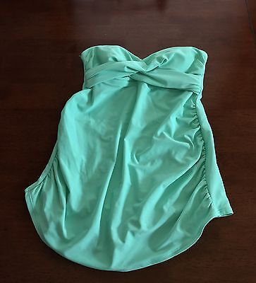 Liz Lange Maternity Tankini Swimsuit Top Mint Green Women's size S