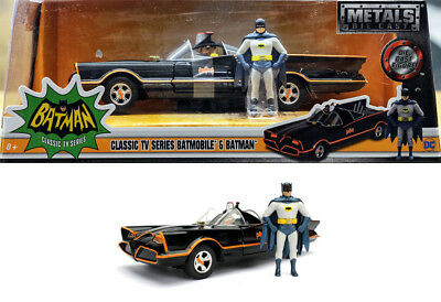1966 Batmobile Batman Classic TV Series + Figuren 1:24 Jada Toys 98259