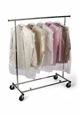 """Wholesale Polythene Clothes Covers /  Clear Poly /  Plastic Bags 24"""" x 30"""""""