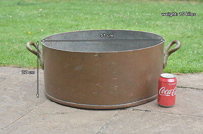Antique heavy copper pan old vintage pan pot  51 cm / 15 kilos - FREE DELIVERY