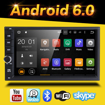 "Quad Core Android 6.0 3G WIFI 7"" 2DIN Car Radio Stereo Player GPS Nav DAB OBD"