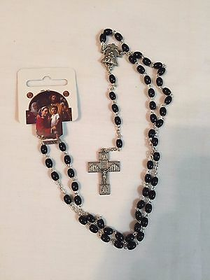 GHIRELLI ROSARY + Black and Silver + World Meeting of Families 2015