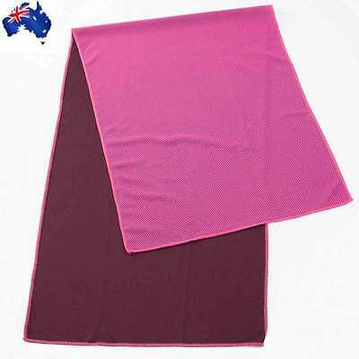 Magic COOLING TOWEL for Sports Gym Camping Travel Jogging Pink