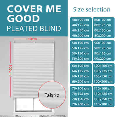 vidaXL Roller Blackout White Daynight Sunscreen Pleated Window Blind Multi Sizes
