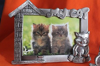 Cat Picture Frames Kitty Frames & Sitting Cat Sweater Brooch Cat Lovers