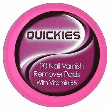 Quickies Convenience Nail Varnish Remover Pads Pack 20 1 2 3 6 12 Packs