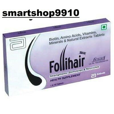 Ayurvedic  Abbott  NEW FOLLIHAIR 10 TABLET in one pack