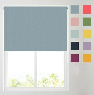 Plain Thermal Blackout Roller Blinds - FREE CUT TO SIZE OPTION