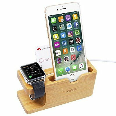 Watch Stand iPhone Apple Watch Holder Charging Bracket Dock Holder Bamboo Wood