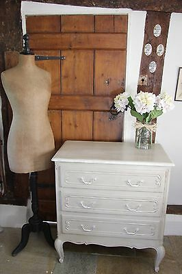 French shabbie chic chest of drawers in beige