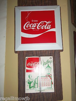COCA-COLA wall calender  1972 from lincolnton .NC.plant new old stock unused