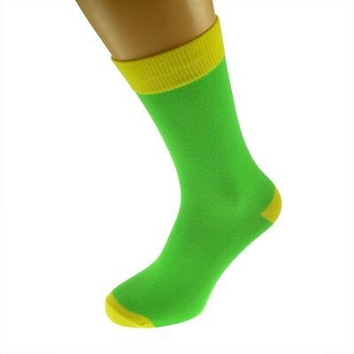 Lime Mens Socks with Yellow  heal and toes, popular Wedding Day Socks  X6TC003