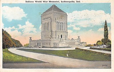 Indianapolis IN~Indiana World War I Monument~1920s Postcard
