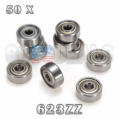 623Z 623ZZ 623 Z 623 ZZ Deep Groove Ball Bearing 3mm x 10mm x 4mm 50 Pcs