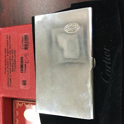 Cartier Business Card Holder in Sterling Silver