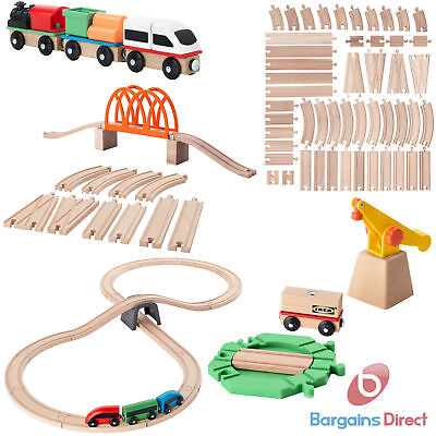 IKEA Lillabo Wooden Railway Train Track and Engine Sets –  Toy Play Set