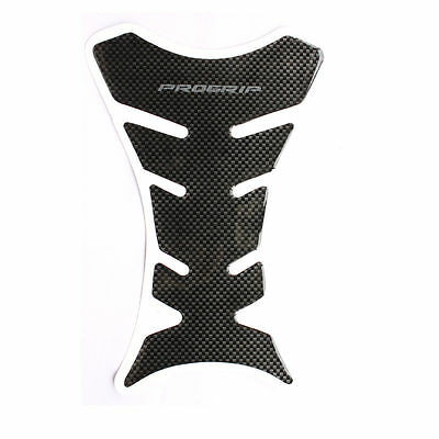 Motorbike Tank Protector Black Carbon Fiber Type Sticker Scratch Pad Motorcycle