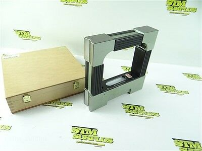 """Spi Precision Master Level W/ Case 8"""" X 8"""" Block Level Made In France .0005"""""""