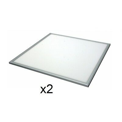 2x 36W Recessed Slim Ceiling LED Panel Lights 6500K 3060Lm 600 x 600mm EVO5004
