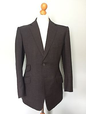Vintage Bespoke  1960's Three 3 Piece Charcoal Grey Suit Size 38 40