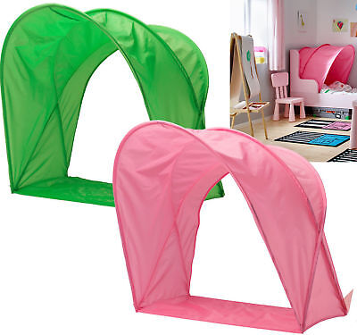 IKEA Sufflett Childrens Single Bed Canopy – Kids Pink or Green Bed Tent