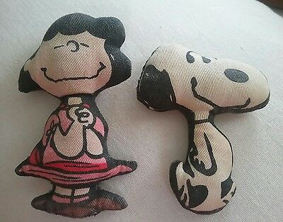 Vintage Lucy and Snoopy Plush Dolls