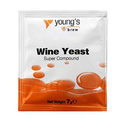 Youngs Super Wine Yeast Compound Nutrient Home Brew Wine Making 7g SACHET