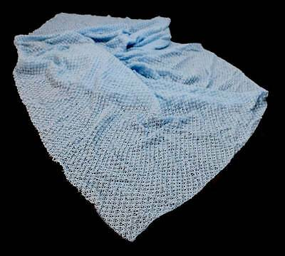 Vintage 1950s 1960s 2.8m of blue lace fabric measuring approx 2.8m x 96cm