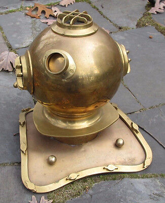 Maritime / Nautical Brass Diving Divers Helmet Full Size Display Reproduction