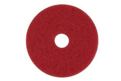 "3M 08388 5100 13"" Round Red Floor Cleaning Pads,5/cs"