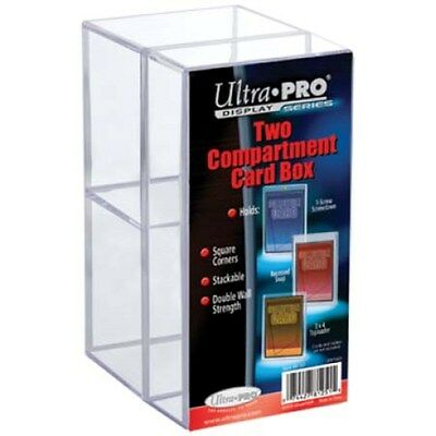 Ultra Pro, 2 Pieces Clear Card Box With Two compartment, for 3 x 4 Toploaders