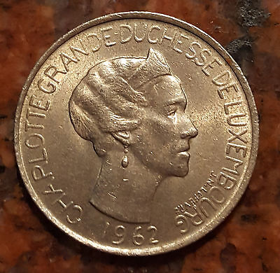 1962 Luxembourg 5 Franc Coin - # 999