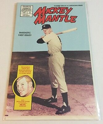 Mickey Mantle Magnum Comics 1991 Dec Issue #1 Nrmt
