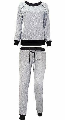 New Ladies Full Tracksuit Sweatshirt Top & Jogging Bottom Women Joggers Set