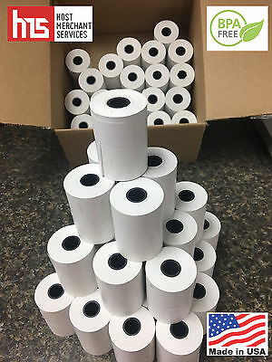 THERMAL RECEIPT PAPER for CLOVER MINI and FD130 - 50 ROLLS **FREE SHIPPING**