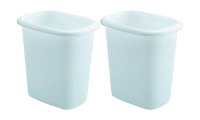 Rubbermaid Vanity Wastebasket6-quart 2 pack White 6-quart, 2 Pack