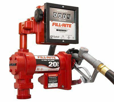 Tuthill Fill Rite FR4211G 12 V DC High Flow 20 GPM Fuel Transfer Pump with Meter