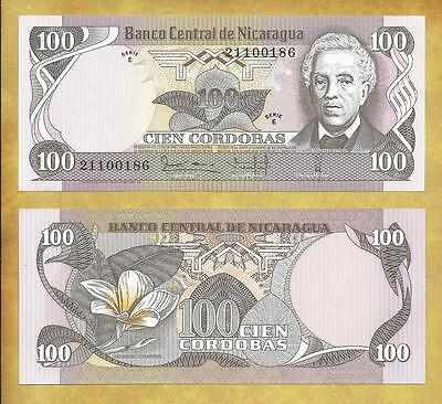 Nicaragua 100 Cordobas 1979 Serie E P-137 Unc Currency Banknote ***USA SELLER***