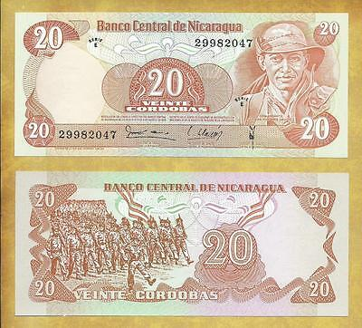 Nicaragua 20 Cordobas 1979 Serie E P-135 Unc Currency Banknote ***USA SELLER***