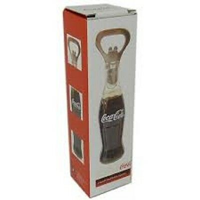 Coca Cola Metal Bottle Opener Realistic Liquid Filled Design Collectible NIB