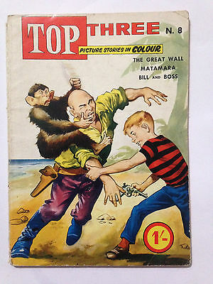 Famepress Publishers TOP THREE Comic 1962. The Great Wall. **Free UK Postage**