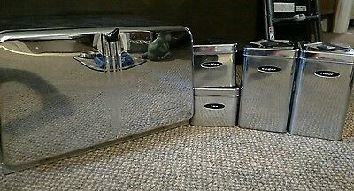 Vintage Masterware Breadbox and Canister set