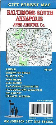 City Street Map of Baltimore South, Annapolis, Maryland, by GMJ Maps